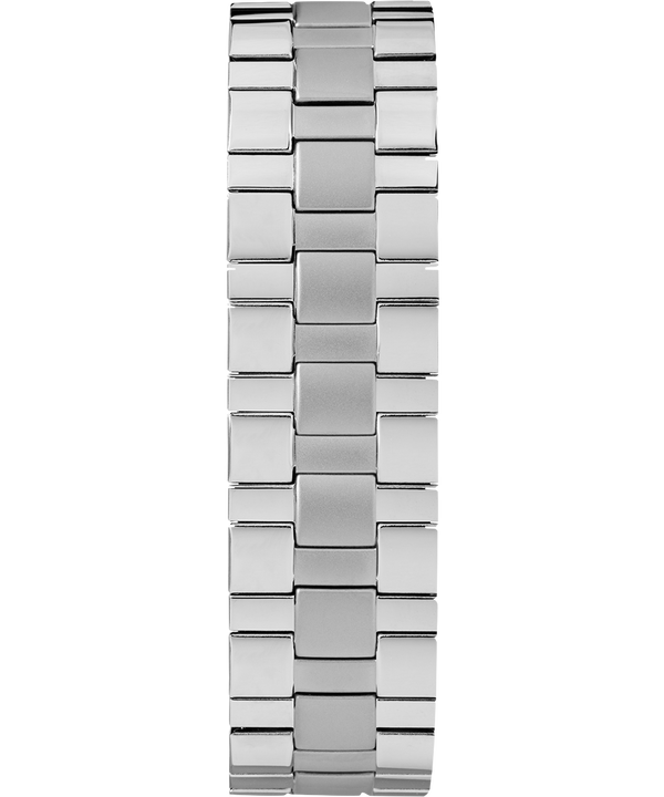 Montre Easy Reader 38 mm Date et bracelet extensible Chrome/Silver-Tone/White large
