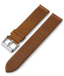 Bracelet en cuir perforé à dégagement rapide 20mm Brun large