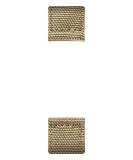 Bracelet en deux parties en nylon brun clair  large