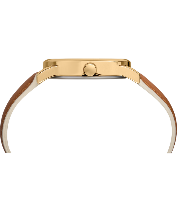 Montre Easy Reader Color Pop 38mm Bracelet en cuir Gold-Tone/Tan/Cream large