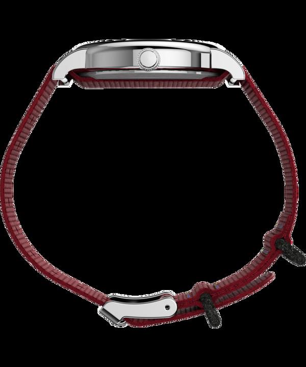 TimexxPeanuts - Montre Snoopy 38mm Bracelet en tissu Silver-Tone/Red/White large