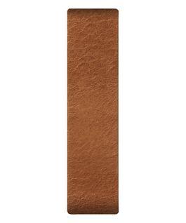 Bracelet une pièce en cuir brun clair  large