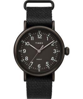 Montre Standard 40mm bracelet en tissu Noir large