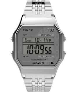 Timex T80 34mm Stainless Steel Bracelet Watch Silver-Tone large
