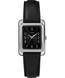 Montre Meriden 25mm Bracelet en cuir Chrome/Noir large