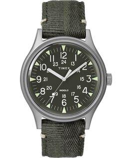 Montre MK1 40mm Acier et Bracelet en tissu Acier inoxydable/Vert large