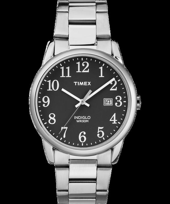 Montre bracelet Easy Reader 38mm Date Silver-Tone/Black large