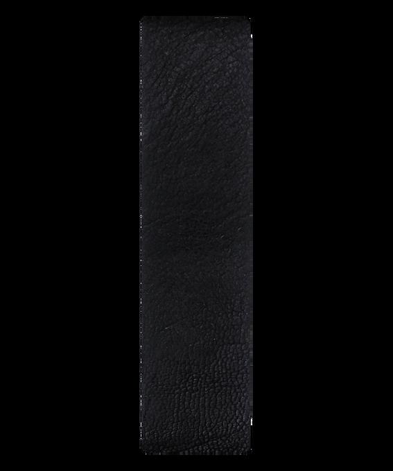 Bracelet une pièce en cuir noir/contour bronze  large