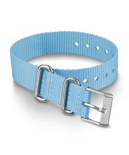 Bracelet une pièce en tissu une couche 16mm Bleu large