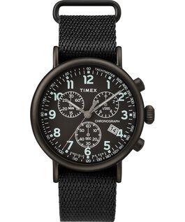 Montre chronomètre Standard 41mm bracelet en tissu Noir large
