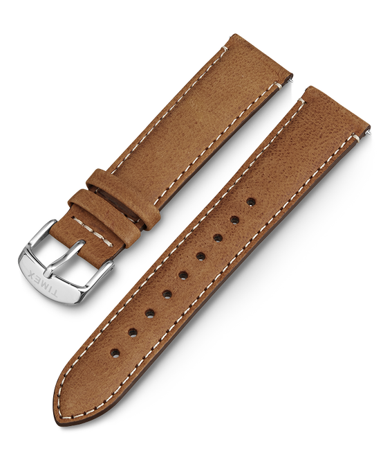 20mm iQ Light Brown Leather Strap Brown large