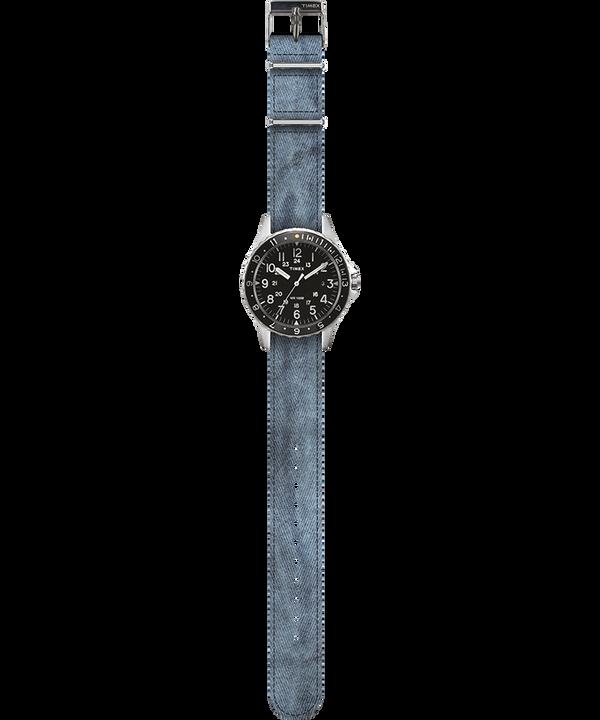Navi Ocean 38mm Fabric Strap Watch Noir/Bleu large