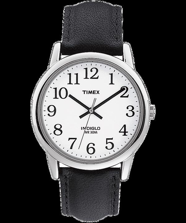 Montre Easy Reader 35mm Bracelet en cuir Silver-Tone/Black/White large