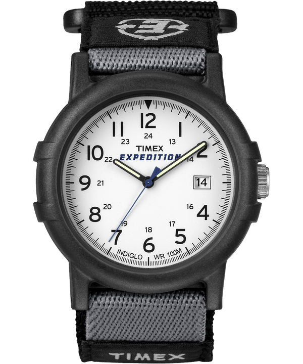Montre Expedition Camper 38 mm Bracelet en nylon Black/White large