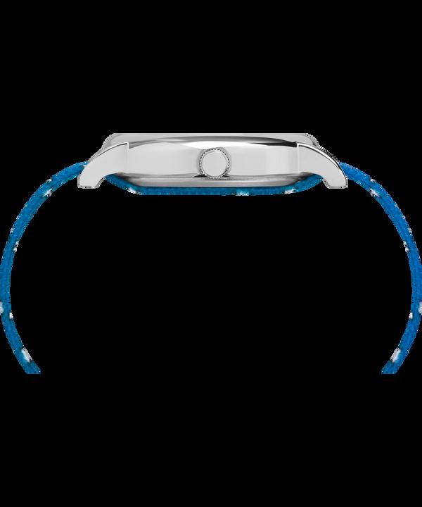 Timex x Peanuts - Montre Lucy 38mm Bracelet en nylon Silver-Tone/Blue/White large