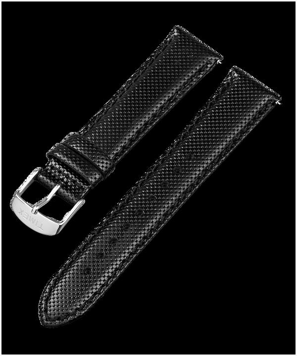 Bracelet en cuir noir à dégagement rapide 20mm Black large