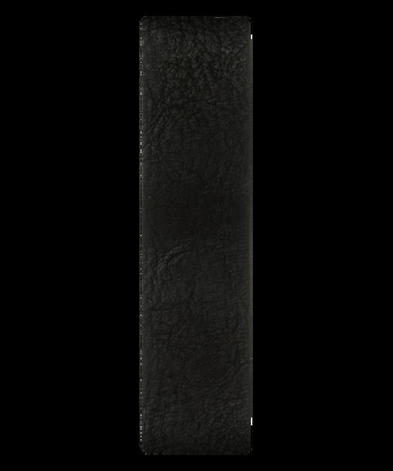Bracelet une pièce en cuir noir  large