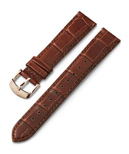 Bracelet en cuir à dégagement rapide 18mm Marron large
