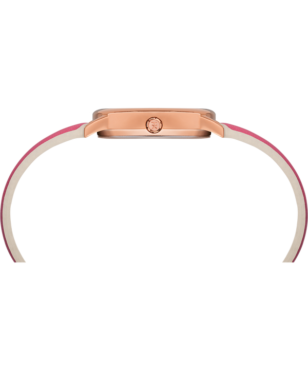 Montre Easy Reader Color Pop 30 mm Bracelet en cuir Or rose/Rose/Blanc large
