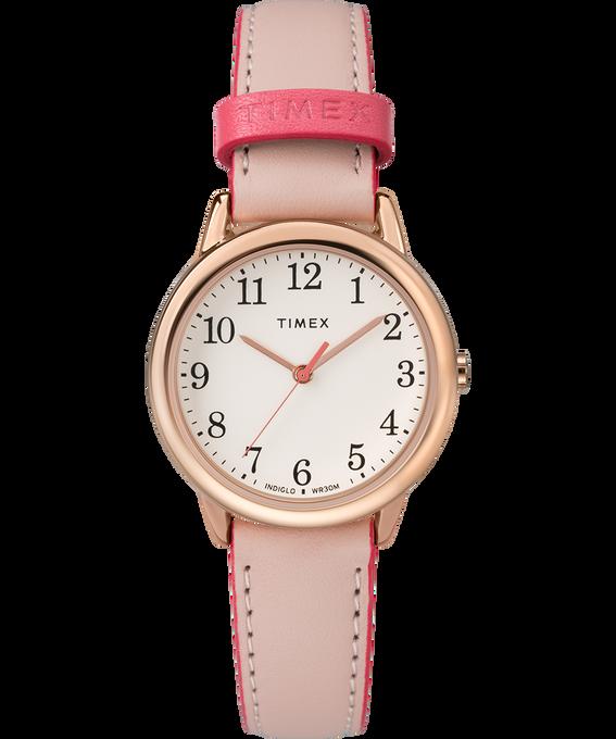 Montre Easy Reader Color Pop 30mm Bracelet en cuir Rose-Gold-Tone/Pink/Cream large