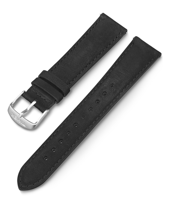 20mm Leather Quick Release Strap Black large