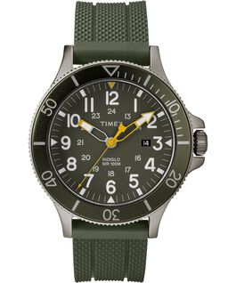 MONTRE ALLIED COASTLINE 43MM AVEC BRACELET EN SILICONE Gray/Green large