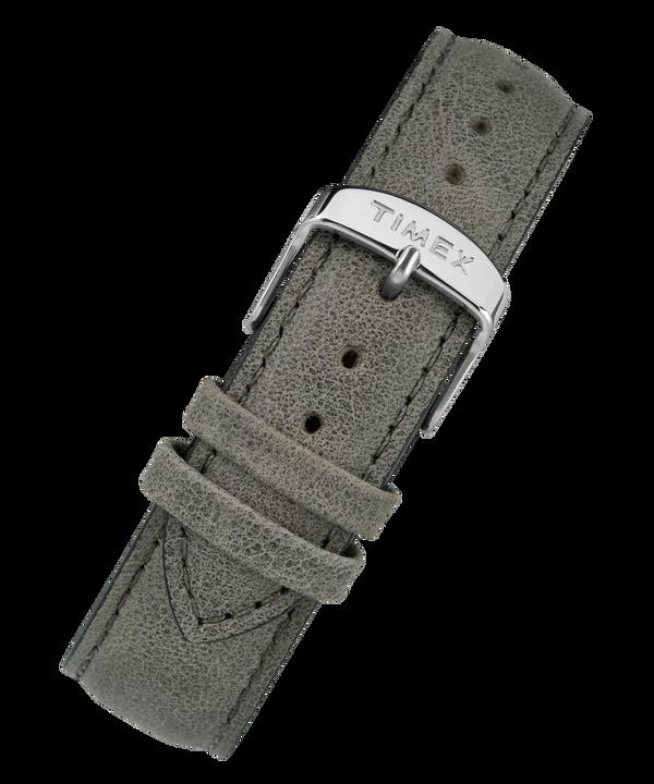 Bracelet en cuir noir à dégagement rapide 20mm Gray large