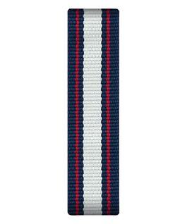 Bracelet une pièce en nylon bleu/blanc/rouge  large