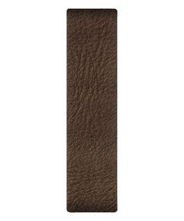 Bracelet une pièce en cuir marron  large