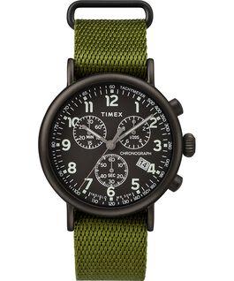 Montre chronomètre Standard 40mm bracelet en tissu Black/Green large