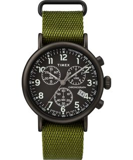 Montre chronomètre Standard 40 mm bracelet en tissu Black/Green large
