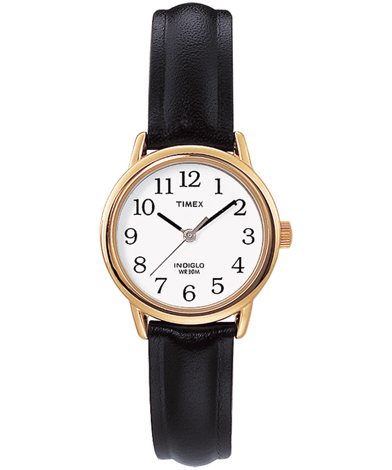 Easy Reader 25mm Leather Watch Gold-Tone/Black/White large