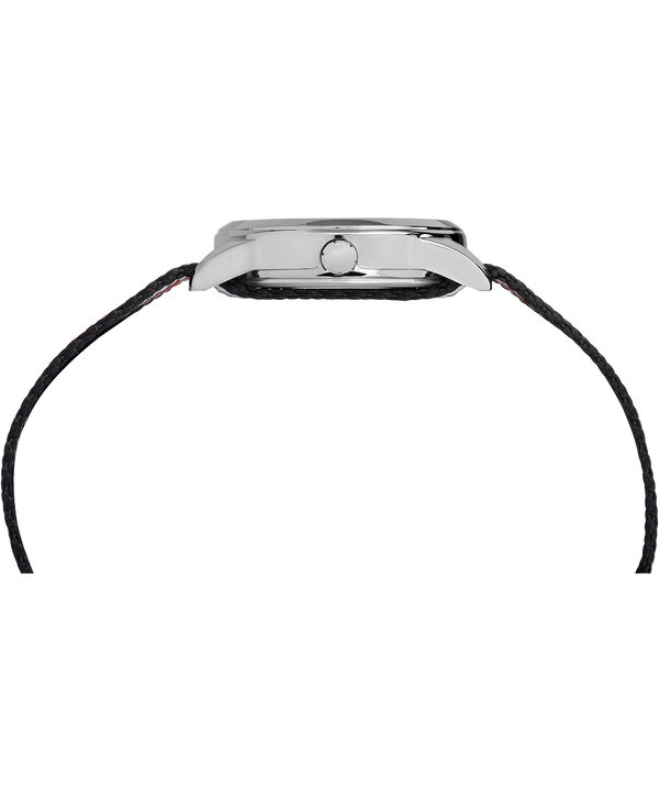 Montre Kids Analog 30mm Bracelet en nylon Silver-Tone/Black large