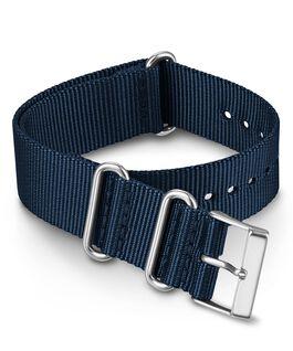 Bracelet une pièce uni à double couche en tissu 20 mm Bleu large