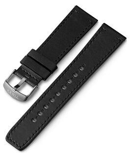 Bracelet en cuir à dégagement rapide 22mm 1 Noir large