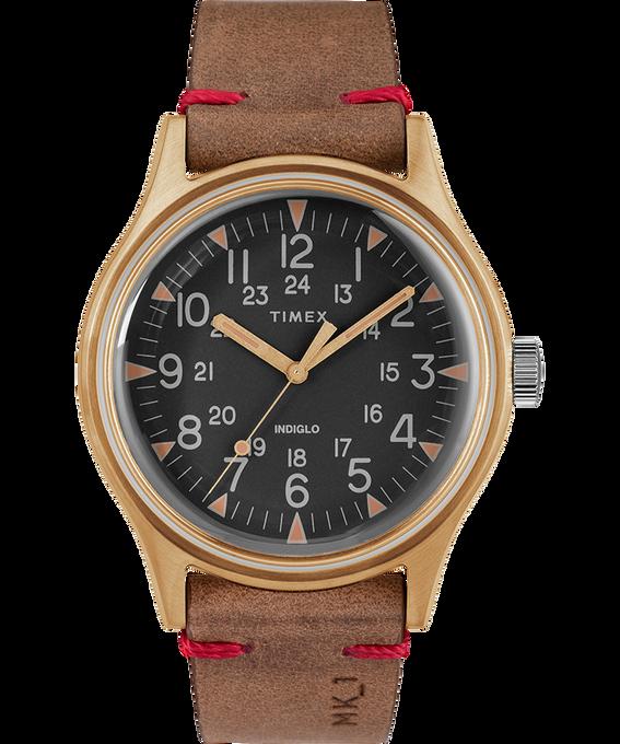 Montre MK1 40mm Acier et Bracelet en cuir Bronze/Marron/Noir large