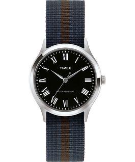 Montre Whitney Avenue 38mm bracelet en tissu réversible Acier inoxydable/Noir large