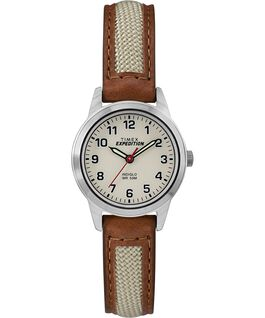 Montre Expedition Field Mini 26 mm Chrome/Brun/Naturel large