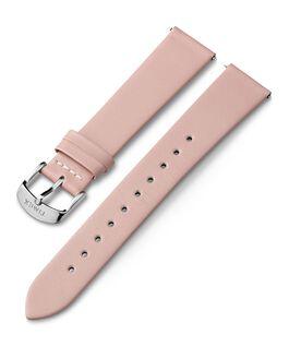 Bracelet en cuir 18mm boucle argentée Rose large