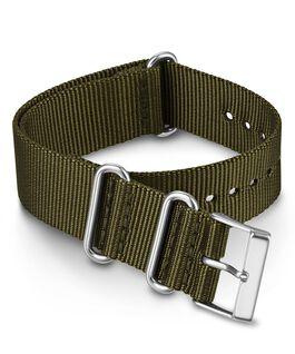 Bracelet une pièce uni à double couche en tissu 20 mm Vert large