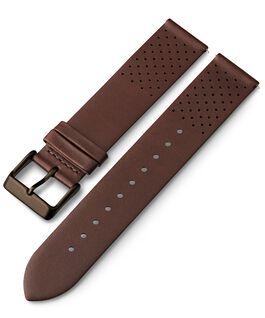 Bracelet en cuir perforé à dégagement rapide 20mm 1 Marron large