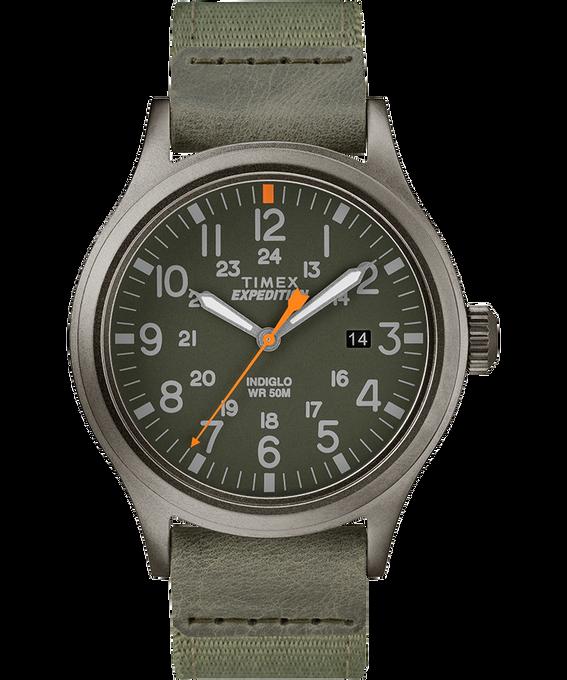 Montre Scout 40mm Bracelet en tissu Gris/Vert large
