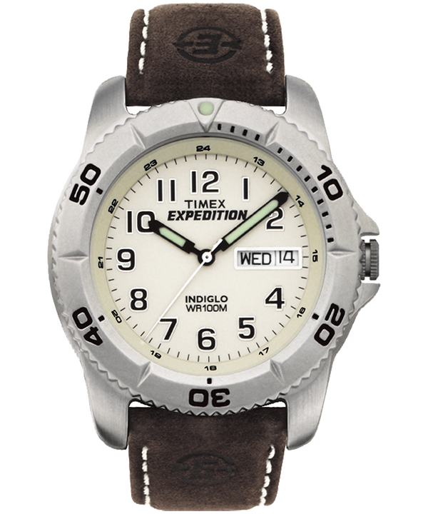 Montre Expedition Traditional 40 mm Bracelet en cuir Silver-Tone/Brown/Natural large