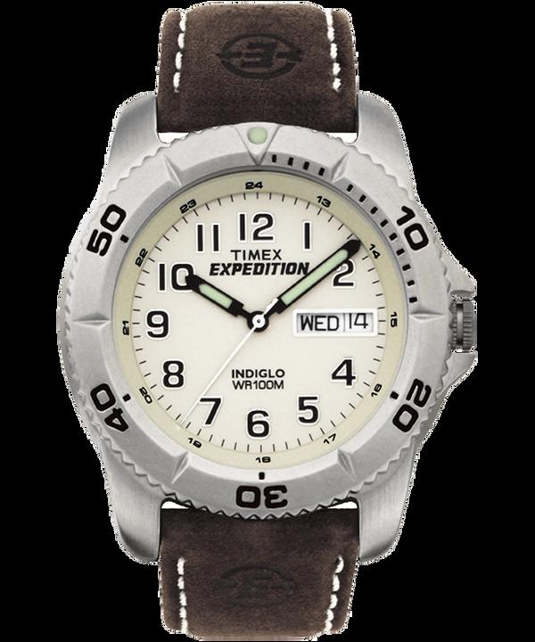 Montre Expedition Traditional 40mm Bracelet en cuir Silver-Tone/Brown/Natural large