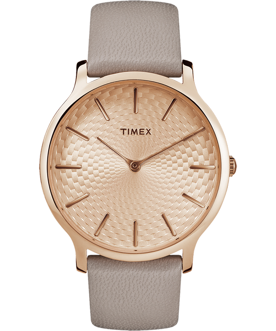 Metropolitan 40mm Leather Watch Rose-Gold-Tone/Gray large