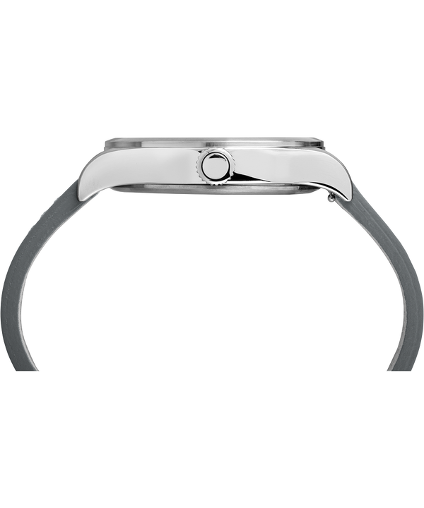 Montre Waterbury Traditional 40 mm Bracelet en cuir Stainless-Steel/Gray large