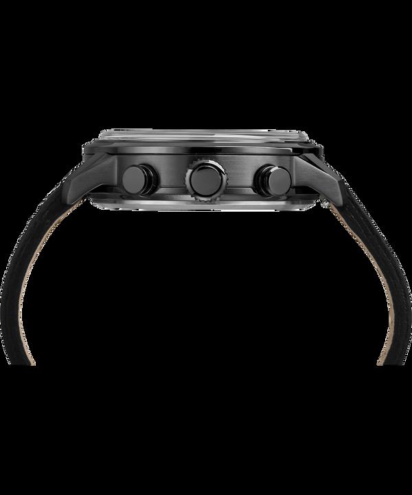 Montre chronomètre linéaire Waterbury 45mm Bracelet en cuir Gray large