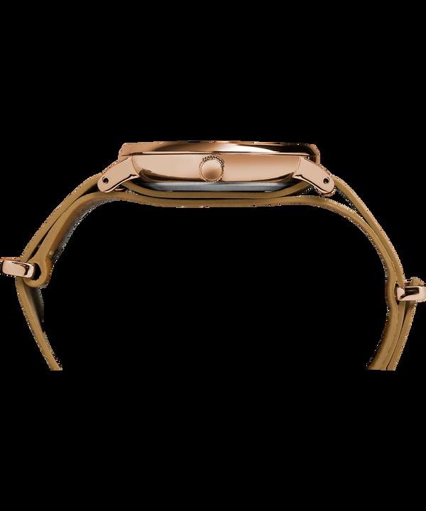 Montre Fairfield 41mm Bracelet une pièce en cuir Rose-Gold-Tone/Brown/White large