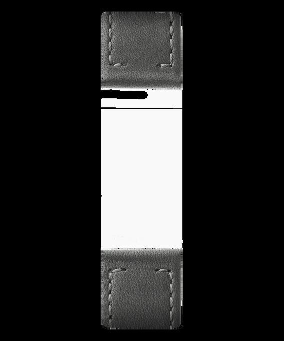 Bracelet en deux parties en cuir gris  large