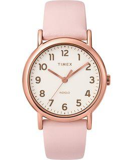 Montre Weekender 38mm bracelet deux pièces en cuir Doré/Rose/Crème large